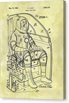 1962 Space Suit Patent Canvas Print by Dan Sproul