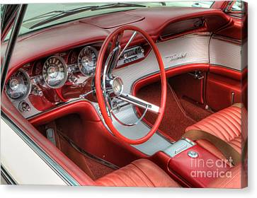 1962 Thunderbird Dash Canvas Print by Jerry Fornarotto