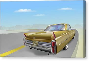 1963 Cadillac De Ville Canvas Print by Marty Garland