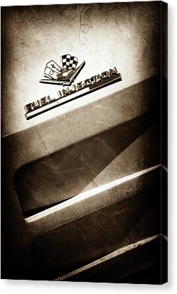 1963 Chevrolet Corvette Sting Ray Emblem -1602s Canvas Print by Jill Reger