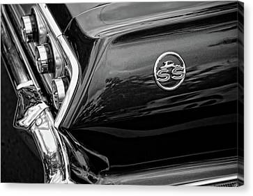 Gratiot Canvas Print - 1963 Chevrolet Impala Ss Black And White by Gordon Dean II
