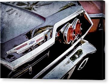 1963 Chevrolet Taillight Emblem -0183ac Canvas Print by Jill Reger