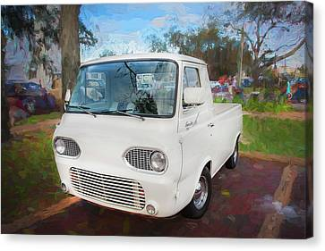 Pickup Truck Door Canvas Print - 1963 Ford Econoline Truck  by Rich Franco