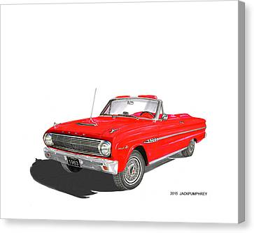 1963 Ford Falcon Sprint V 8 Canvas Print by Jack Pumphrey