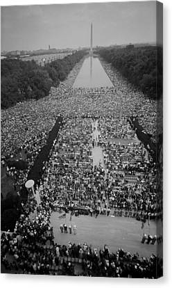 1963 March On Washington, At The Height Canvas Print by Everett
