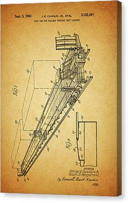 1963 Railway Car Patent Canvas Print