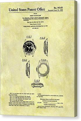 1963 Rolex Watch Patent Canvas Print by Dan Sproul