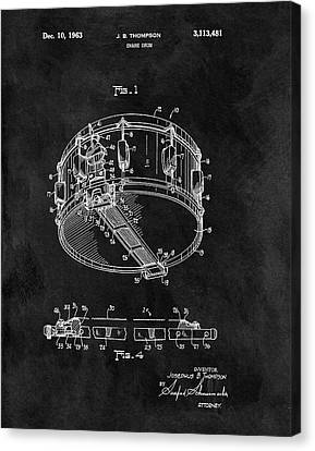 1963 Snare Drum Patent Canvas Print by Dan Sproul