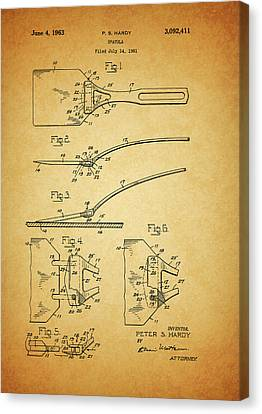 Culinary Canvas Print - 1963 Spatula Patent by Dan Sproul