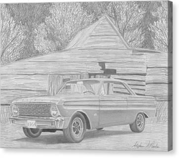 1964 Ford Falcon Futura Classic Car Art Print Canvas Print by Stephen Rooks