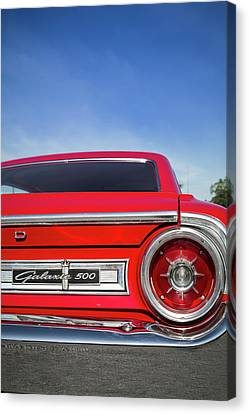 1964 Ford Galaxie 500 Taillight And Emblem Canvas Print