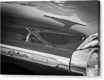 1964 Ford Galaxie 500 Xl Emblem -0042bw Canvas Print by Jill Reger