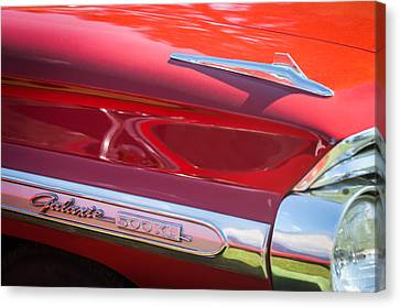 1964 Ford Galaxie 500 Xl Emblem -0042c Canvas Print by Jill Reger