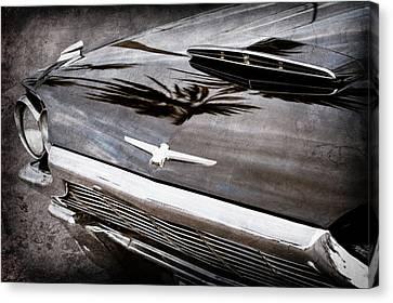 1964 Ford Thunderbird Grille Emblem -0519ac Canvas Print by Jill Reger