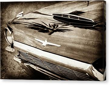 1964 Ford Thunderbird Grille Emblem -0519s Canvas Print by Jill Reger
