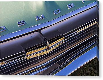 1964 Oldsmobile Jetstar Hood Ornament Canvas Print by Nick Gray