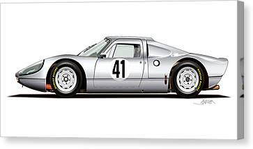 1964 Porsche 904 Carrera Gts Canvas Print by Alain Jamar