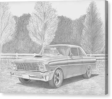1965 Ford Falcon Classic Car Art Print Canvas Print by Stephen Rooks