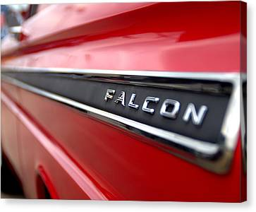 1965 Ford Falcon Name Plate Canvas Print by Brian Harig