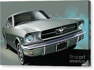 Pony Canvas Print - 1965 Ford Mustang Coupe by Uli Gonzalez