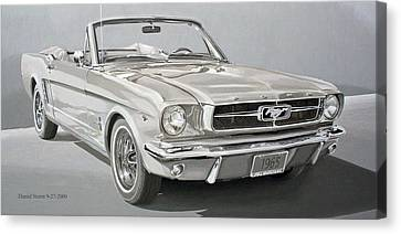 1965 Ford Mustang Canvas Print by Daniel Storm
