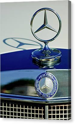 1965 Mercedes 220 Se Cabriolet Hood Ornament Canvas Print by Jill Reger