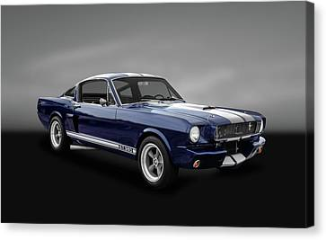 1965 Shelby Ford Mustang Gt 350 Fastback - 65fdmusgt973 Canvas Print by Frank J Benz