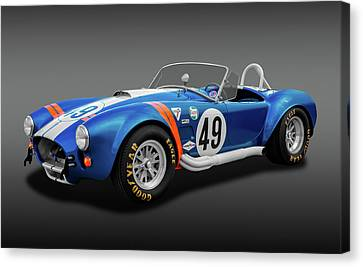Canvas Print featuring the photograph 1966 427 Shelby Cobra  -  1966427shelbycobrafa170660 by Frank J Benz