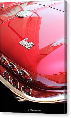 1966 Corvette Stingray Canvas Print by Betty Northcutt
