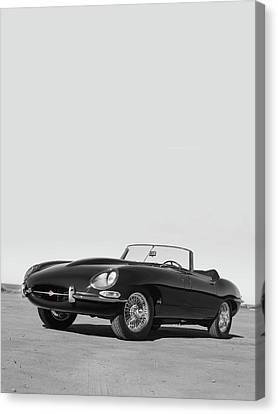 1966 E-type Series 1  Canvas Print by Mark Rogan