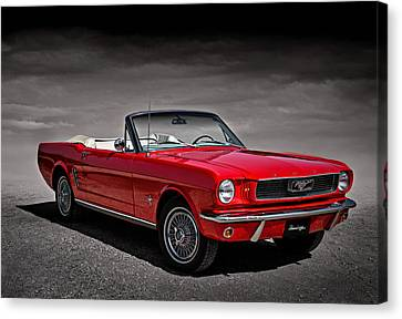 Pony Canvas Print - 1966 Ford Mustang Convertible by Douglas Pittman