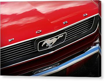 Canvas Print featuring the photograph 1966 Ford Mustang by Gordon Dean II