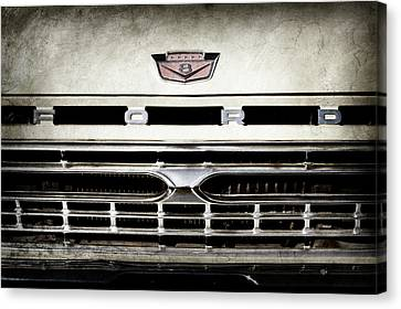1966 Ford Pickup Truck Grille Emblem -0154ac Canvas Print by Jill Reger