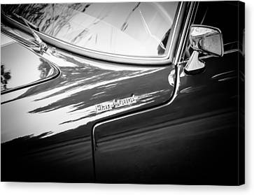 1966 Lotus Elan S3 Fhc Coupe Side Emblem -1227bw Canvas Print by Jill Reger