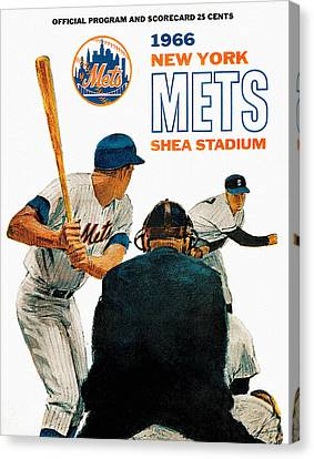 1966 New York Mets Scorecard Canvas Print