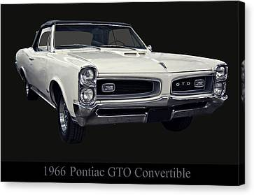 1966 Pontiac Gto Convertible Canvas Print