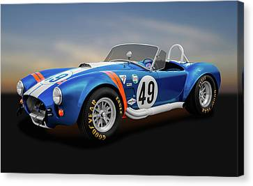 Canvas Print featuring the photograph 1966 Shelby Cobra  -  1966shelbycobra427170660 by Frank J Benz
