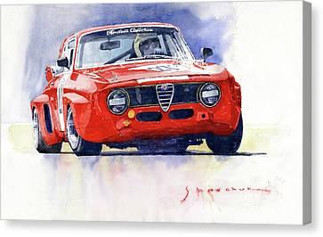 1967 Alfa Romeo Gta 1600 Groupe 5  Canvas Print
