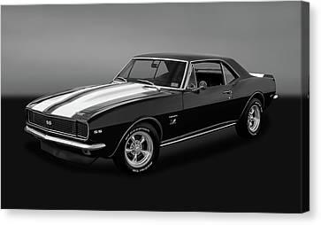 1967 Chevrolet Camaro Ss/rs 396  -  1967camaro22grybw Canvas Print by Frank J Benz
