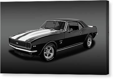 1967 Chevrolet Camaro Ss/rs 396   -   B_w67396camarossfa2483 Canvas Print by Frank J Benz