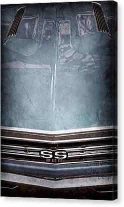 1967 Chevrolet Chevelle Super Sport Emblem -0028ac Canvas Print