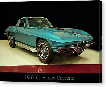 Canvas Print featuring the digital art 1967 Chevrolet Corvette 2 by Chris Flees