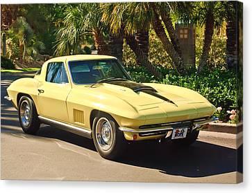 Chevy Coupe Canvas Print - 1967 Chevrolet Corvette Sport Coupe by Jill Reger