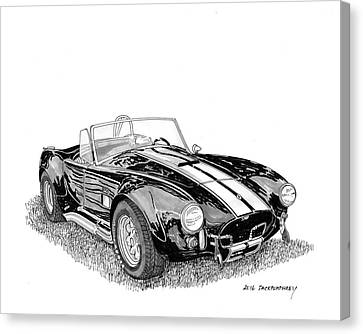 Canvas Print featuring the painting 1967 Cobra Sc by Jack Pumphrey