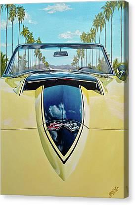 1967 Corvette 427 Convertible Canvas Print by Branden Hochstetler