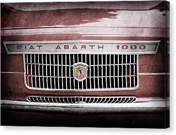 1967 Fiat Abarth 1000 Otr Grille Emblem -0588ac Canvas Print