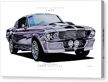 1967 Ford Mustang Hyper Custom Canvas Print