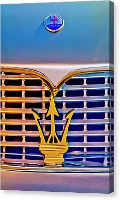 1967 Maserati Sebring Coupe Emblem Canvas Print by Jill Reger
