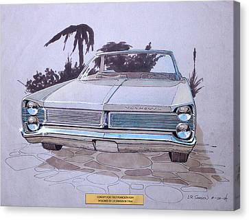 Virgil Canvas Print - 1967 Plymouth Fury  Vintage Styling Design Concept Rendering Sketch by John Samsen