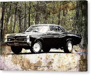 1967 Pontiac Gto Canvas Print by Pablo Franchi